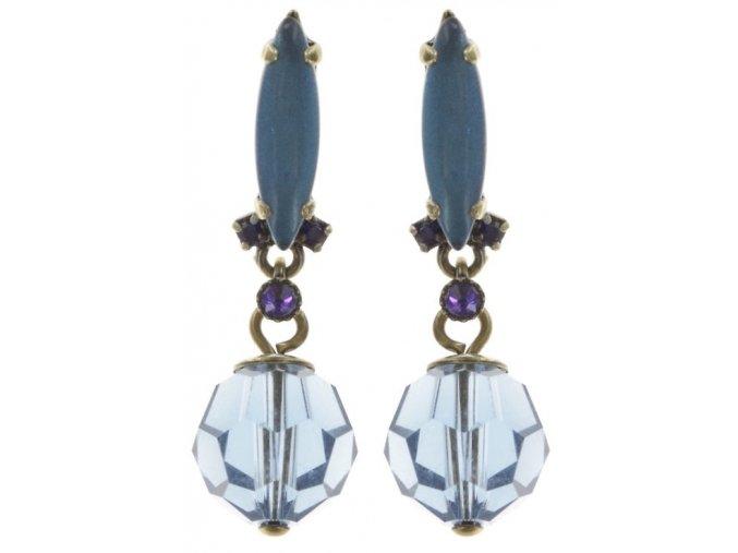 La Maitresse - modrá/fialová Náušnice > Puzety - 5450543253503