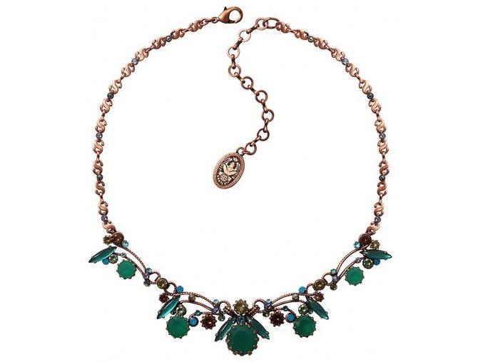 La Maitresse - hnědá/zelená Náhrdelníky - 5450543253596