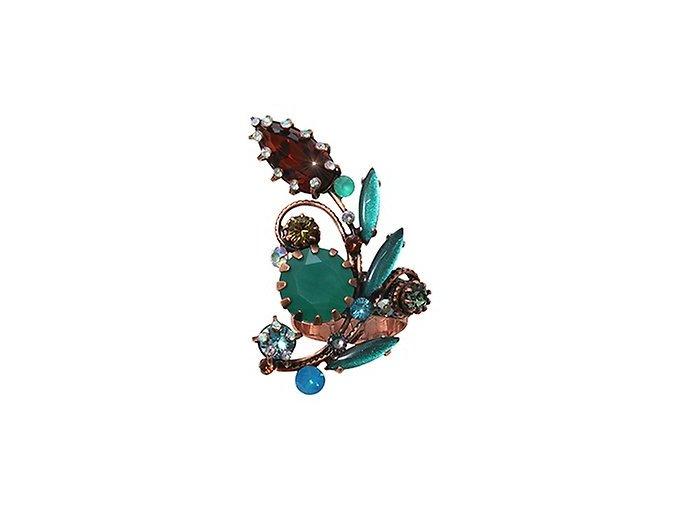 La Maitresse - hnědá/zelená Prsteny - 5450543253831