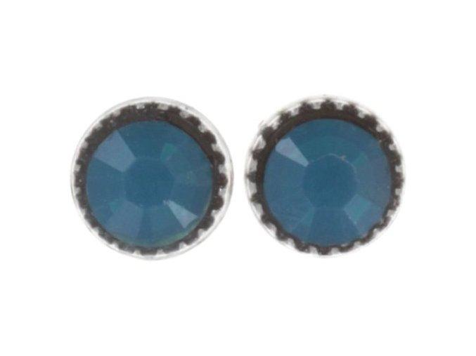 Black Jack - modrá Náušnice > Puzety - 5450543253916