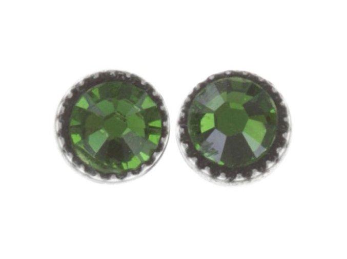 Black Jack - zelená Náušnice > Puzety - 5450543253961
