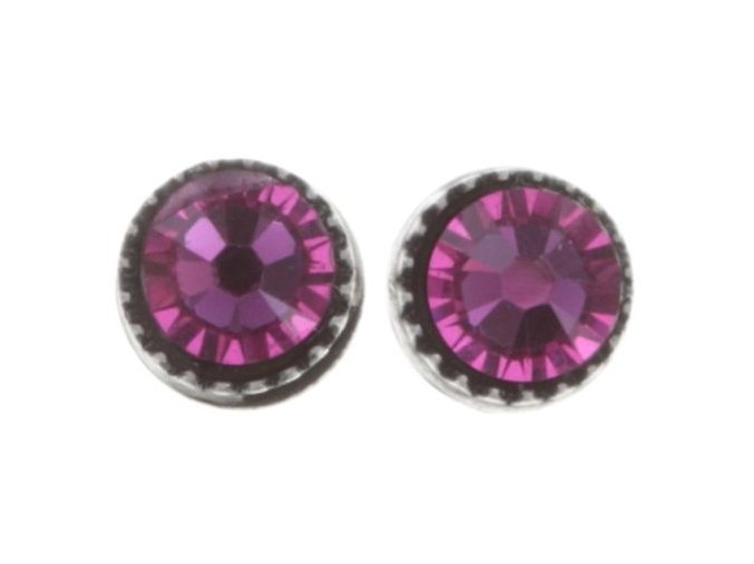Black Jack - růžová Náušnice > Puzety - 5450543253985