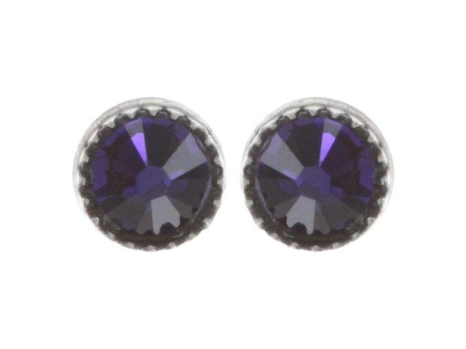 Black Jack - fialová Náušnice > Puzety - 5450543254005