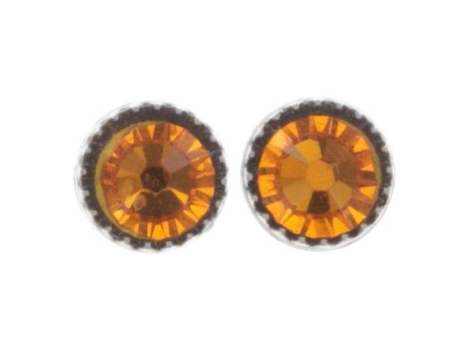Black Jack - oranžová Náušnice > Puzety - 5450543254036