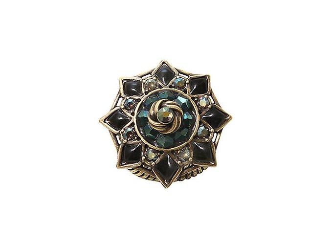 Arabic Nights - černá/zelená Prsteny - 5450543256283