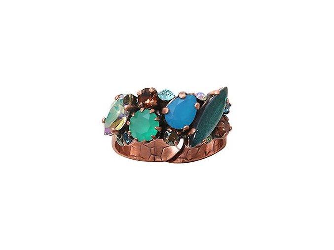 La Maitresse - hnědá/zelená Prsteny - 5450543269474
