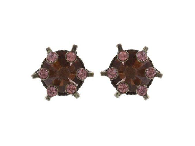 La Maitresse - růžová/hnědá Náušnice > Puzety - 5450543271347