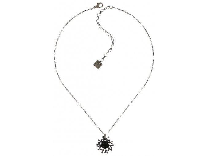 Petit Four de Fleur - černá Náhrdelníky - 5450543271804