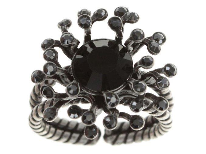 Petit Four de Fleur - černá Prsteny - 5450543271835