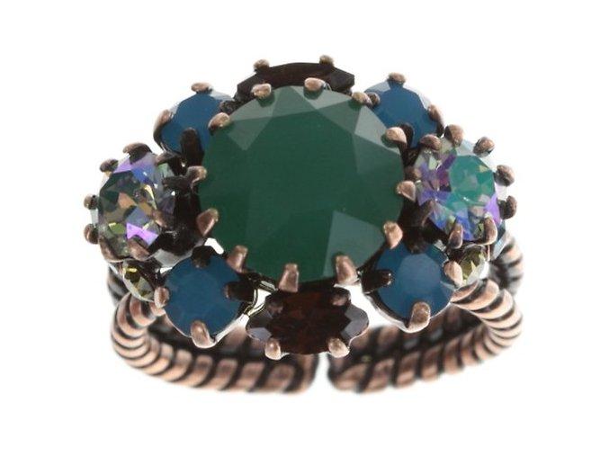 La Maitresse - hnědá/zelená Prsteny - 5450543272337
