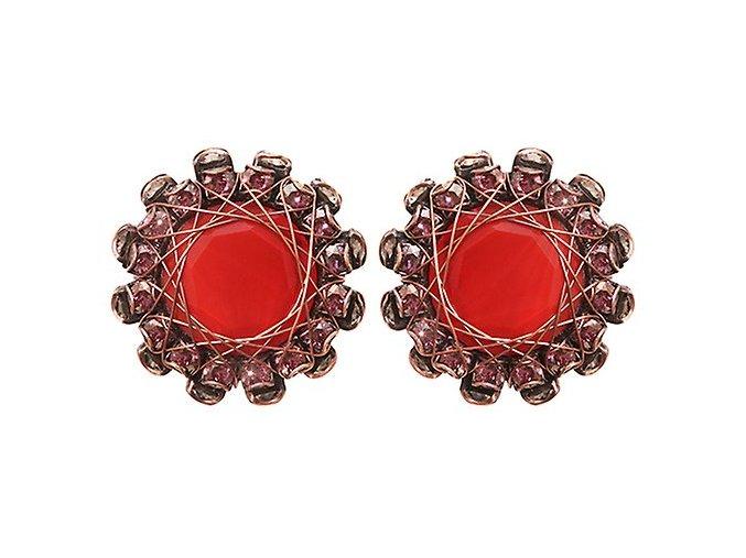 In Honor of the Rose - červená Náušnice > Puzety - 5450543274751