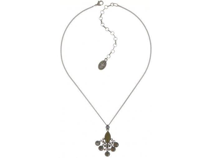 Dangling Navette - zelená/šedivá Náhrdelníky - 5450543278841