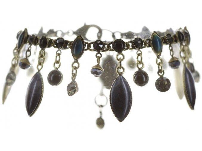 Dangling Navette - černá/modrá Náramky > Klasické - 5450543278995