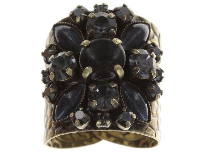 Dangling Navette - černá/modrá Prsteny - 5450543279091