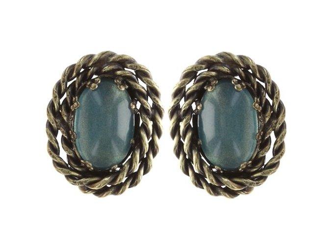 Twisted Lady - modrá Náušnice > Puzety - 5450543290942