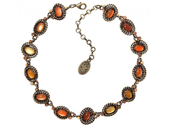 Twisted Lady - oranžová Náhrdelníky - 5450543291000