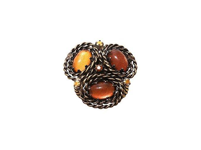 Twisted Lady - oranžová Prsteny - 5450543291086