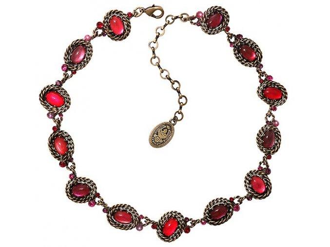 Twisted Lady - červená Náhrdelníky - 5450543291116