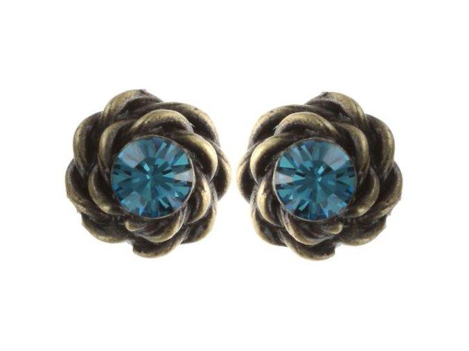 Twisted Lady - modrá Náušnice > Puzety - 5450543294018