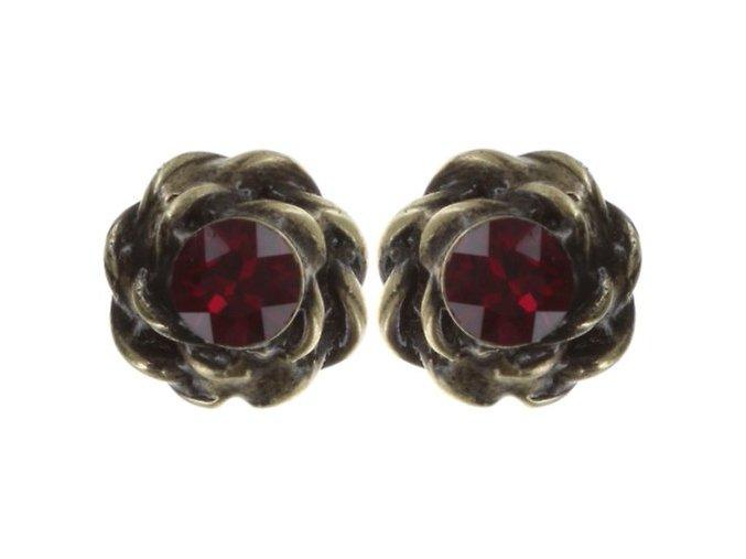 Twisted Lady - červená Náušnice > Puzety - 5450543294094