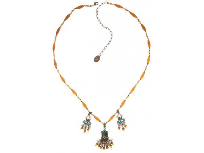 Mandala - hnědá/zelená Náhrdelníky - 5450543318301