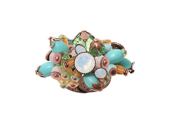 Mandala - hnědá/zelená Prsteny - 5450543319544