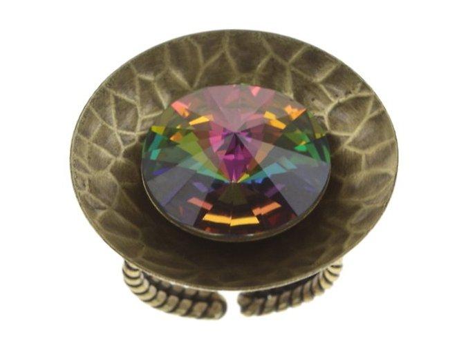 Rivoli Concave - zelená Prsteny - 5450543325309