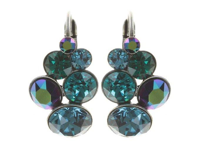 Petit Glamour - modrá/zelená Náušnice > Klasickézapínání - 5450543344355