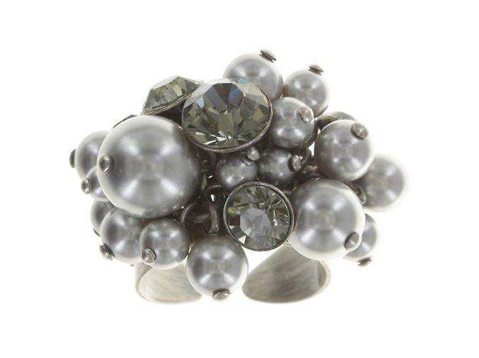 Pearl Shadow - šedivá Prsteny - 5450527480864