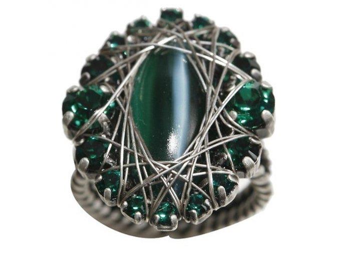 Enchanted - zelená Prsteny - 5450527729406