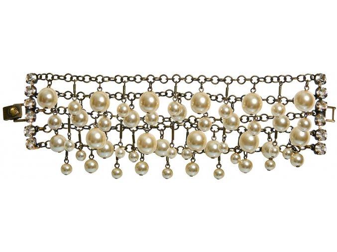 Pearls and Tubes - béžová Náramky > Klasické - 5450527986762