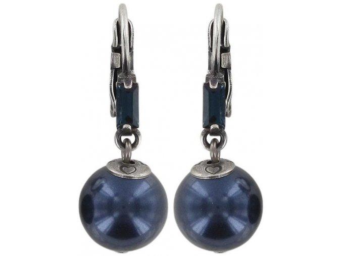 Pearl Shower - modrá Náušnice > Klasickézapínání - 5450543027364