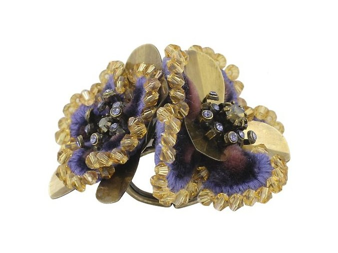 Pillow Kiss - fialová/hnědá Prsteny - 5450543032320
