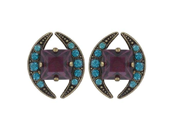 Art Deco Oriental - multi/více barev Náušnice > Puzety - 5450543056319