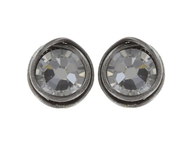 Sparkle Twist - bílá Náušnice > Puzety - 5450543077819