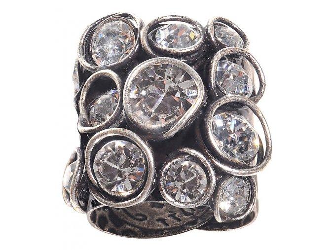 Sparkle Twist - bílá Prsteny - 5450543077833
