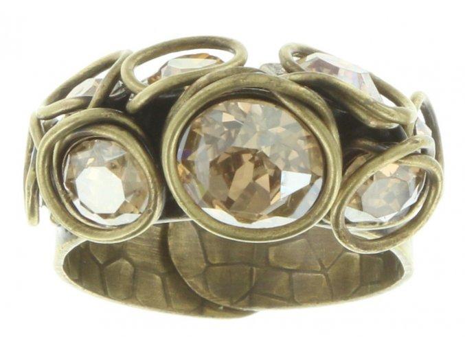 Sparkle Twist - béžová Prsteny - 5450543078250
