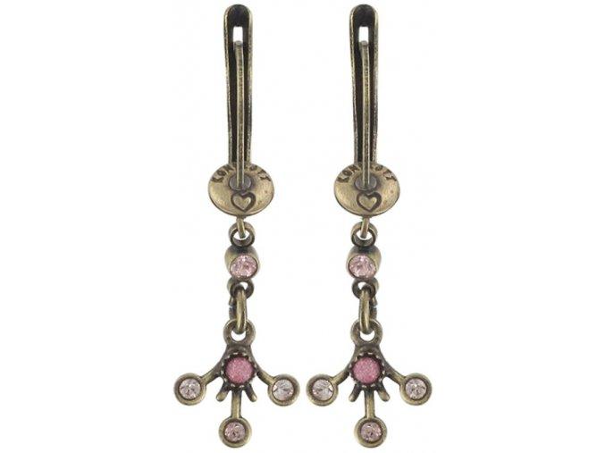 Filigree - růžová Náušnice > Francouzské zapínaní - 5450543080703