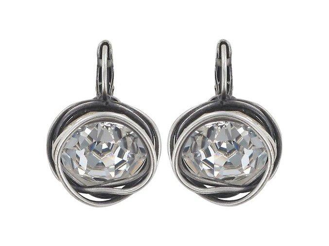 Sparkle Twist - bílá Náušnice > Klasickézapínání - 5450543086545