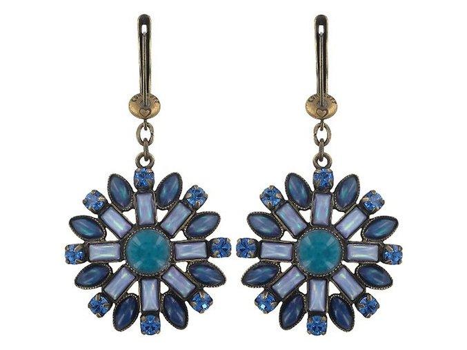 Ethnic Mosaic - modrá/zelená Náušnice > Francouzské zapínaní - 5450543104614