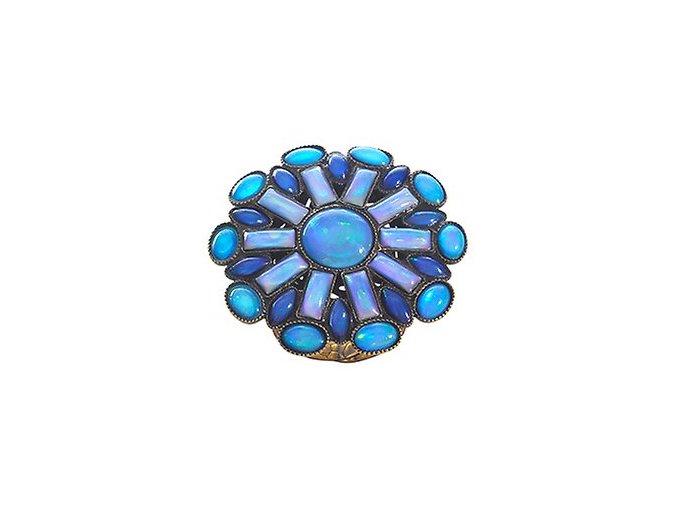 Ethnic Mosaic - modrá/zelená Prsteny - 5450543105048