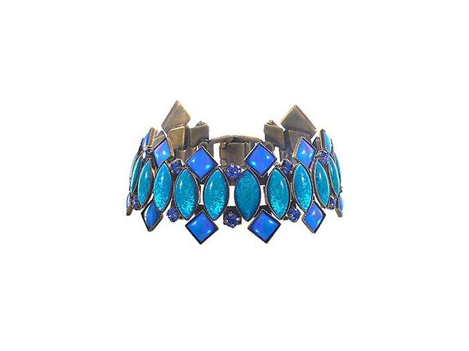 Ethnic Mosaic - modrá/zelená Náramky > Klasické - 5450543108414