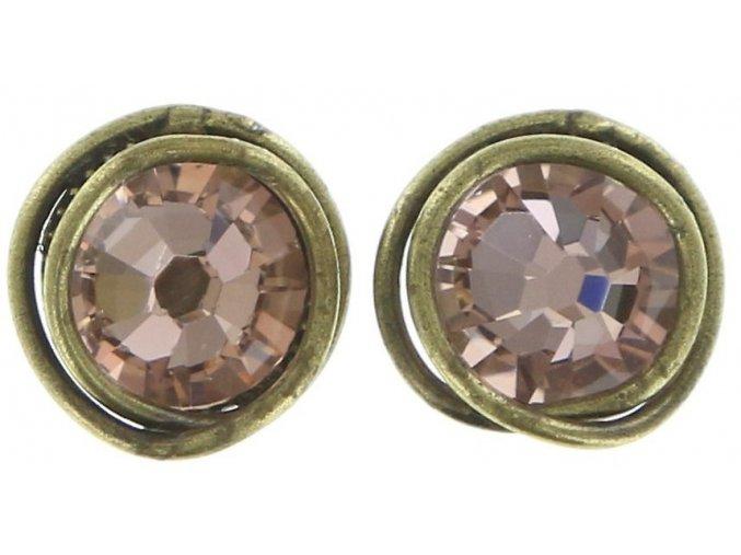 Sparkle Twist - beige/pink Náušnice > Puzety - 5450543131283
