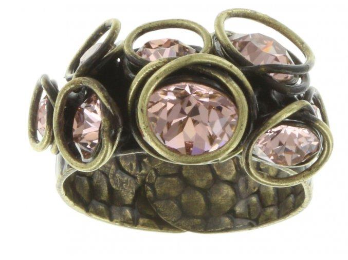 Sparkle Twist - beige/pink Prsteny - 5450543131313