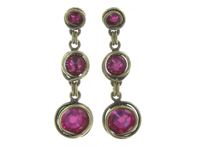 Sparkle Twist - růžová Náušnice > Puzety - 5450543131610