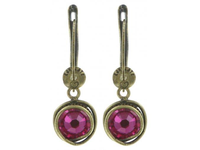 Sparkle Twist - růžová Náušnice > Francouzské zapínaní - 5450543131627