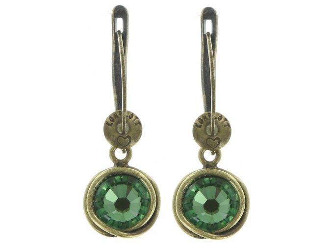 Sparkle Twist - zelená Náušnice > Francouzské zapínaní - 5450543131740