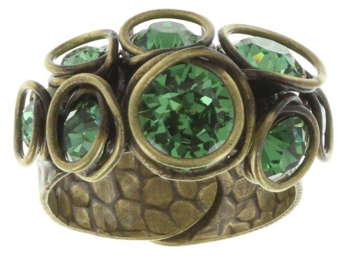 Sparkle Twist - zelená Prsteny - 5450543131795