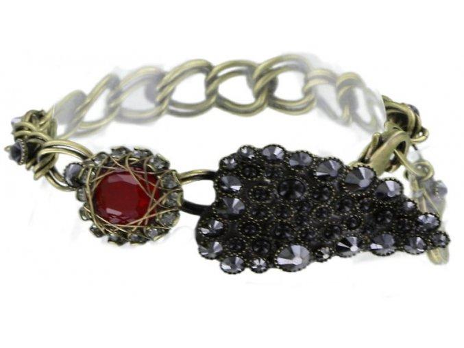 Queen of Elves - černá/červená Náramky > Klasické - 5450543165400