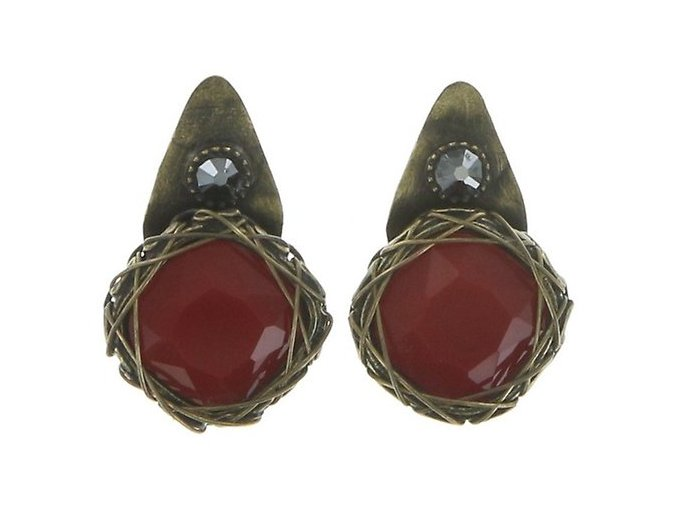 Queen of Elves - černá/červená Náušnice > Puzety - 5450543165530